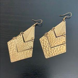 Francesca Geometric Gold Statement Earrings
